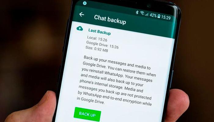 Recuperar mis copias de seguridad de WhatsApp